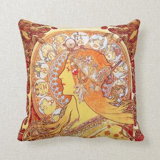 Zodiaco, Alfonso Mucha - almohada de MoJo del amer
