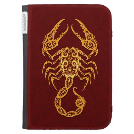 Zodiaco amarillo complejo del escorpión en rojo
