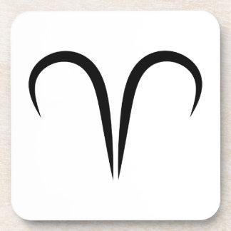 zodiaco astrológico griego del símbolo de los ares posavaso