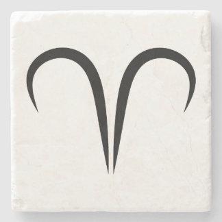 zodiaco astrológico griego del símbolo de los ares posavasos de piedra
