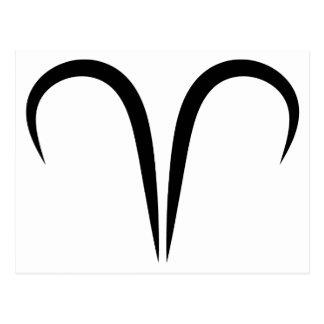 zodiaco astrológico griego del símbolo de los ares postales