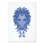 Zodiaco azul complejo de Leo en blanco Invitación 8,9 X 12,7 Cm