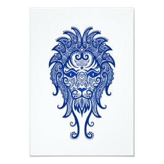 Zodiaco azul complejo de Leo en blanco Invitación