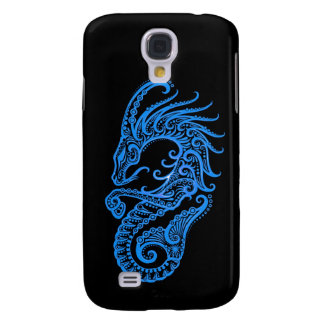 Zodiaco azul complejo del Capricornio en negro Funda Para Galaxy S4