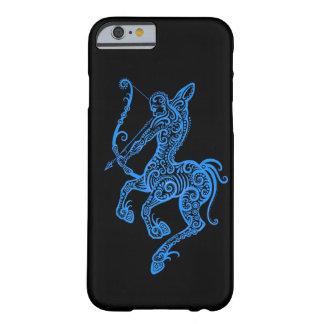 Zodiaco azul complejo del sagitario en negro