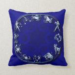 Zodiaco azul de la resplandor - almohada