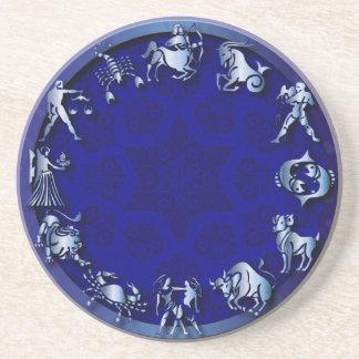 Zodiaco azul de la resplandor - Coster 1 Posavasos Diseño