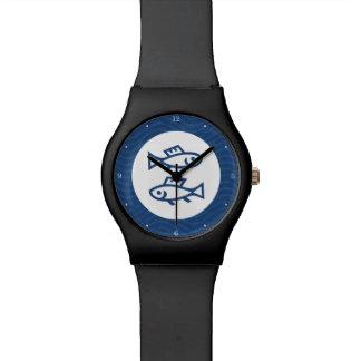 Zodiaco azul de Piscis Relojes De Pulsera