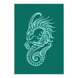 """Zodiaco azul del Capricornio del trullo complejo Invitación 3.5"""" X 5"""""""