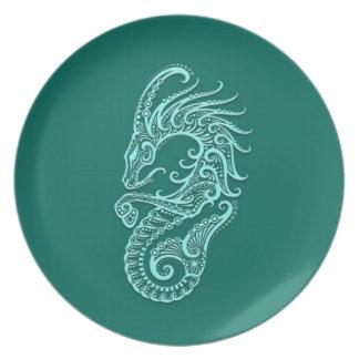 Zodiaco azul del Capricornio del trullo complejo Plato De Comida