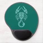 Zodiaco azul del escorpión del trullo complejo alfombrillas de raton con gel