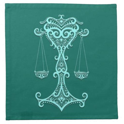 Zodiaco azul del libra del trullo complejo servilleta de papel