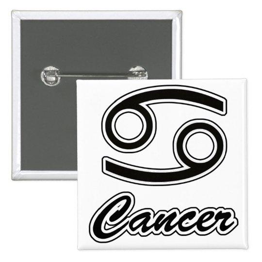 Zodiaco: Cáncer Pin Cuadrado