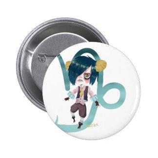Zodiaco Capicorn Pin Redondo De 2 Pulgadas