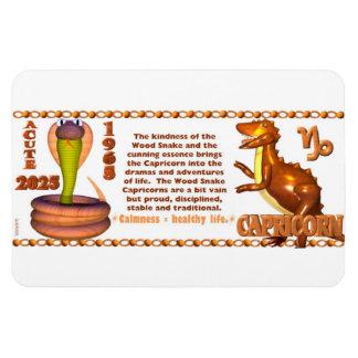 Zodiaco Capricprn de la serpiente de madera 2025 d Imán Flexible