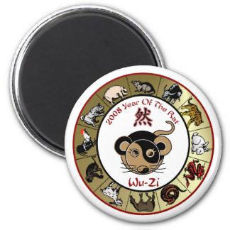 Zodiaco chino 2008 años del imán de la rata