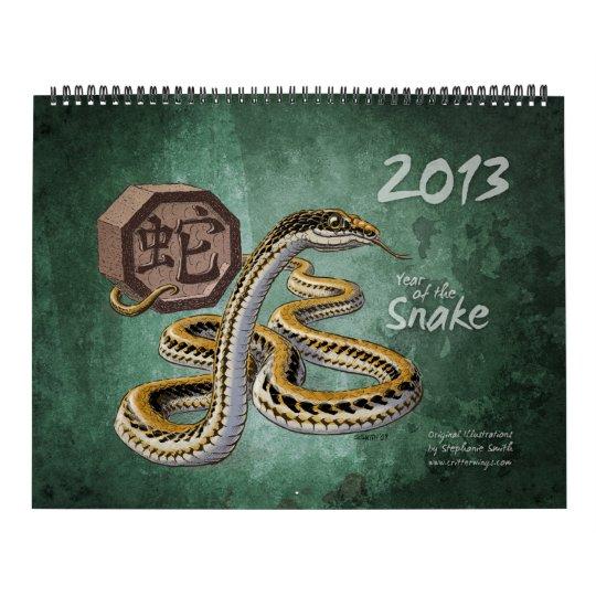 Zodiaco chino 2013: El año de la serpiente Calendario De Pared