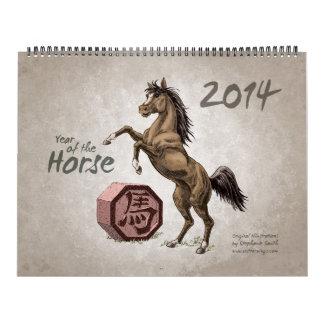 Zodiaco chino 2014 El año del caballo Calendarios De Pared