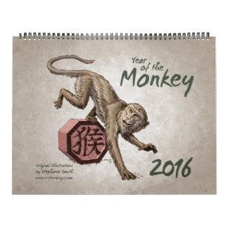 Zodiaco chino: Año del mono 2016 Calendario