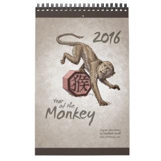 Zodiaco chino: Año del mono 2016 Calendarios