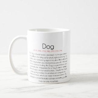 Zodiaco chino (año del perro) 2 taza básica blanca