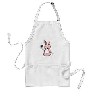 Zodiaco chino del conejo (liebre) delantal