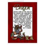 Zodiaco chino - dragón tarjeton