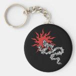 Zodiaco chino - muestra del dragón del fuego llavero personalizado
