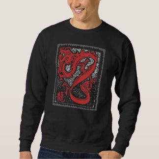 Zodiaco chino - negro chino del dragón del zodiaco sudadera con capucha