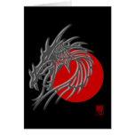 Zodiaco chino - regalo del dragón tarjetón