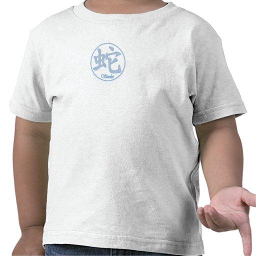 Zodiaco chino - serpiente camisetas