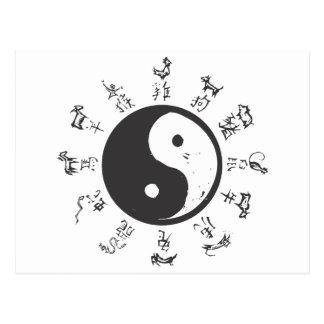 Zodiaco chino tarjeta postal