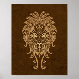 Zodiaco complejo de Brown Leo Impresiones
