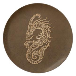 Zodiaco complejo del Capricornio de Brown Plato De Cena