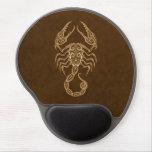 Zodiaco complejo del escorpión de Brown Alfombrilla Con Gel