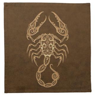 Zodiaco complejo del escorpión de Brown Servilletas De Papel