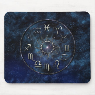 Zodiaco con el fondo estrellado alfombrillas de ratón