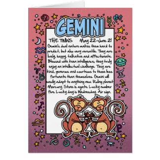 Zodiaco - datos divertidos de los géminis tarjeta de felicitación