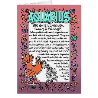 Zodiaco - datos divertidos del acuario tarjeta de felicitación