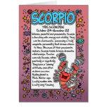 Zodiaco - datos divertidos del escorpión tarjeta
