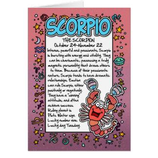 Zodiaco - datos divertidos del escorpión tarjeta de felicitación