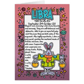 Zodiaco - datos divertidos del libra tarjeta de felicitación