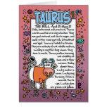 Zodiaco - datos divertidos del tauro tarjetas