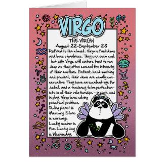 Zodiaco - datos divertidos del virgo tarjeta de felicitación