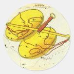 Zodiaco de la constelación de la escala del libra pegatinas redondas
