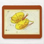 Zodiaco de la constelación de la escala del libra tapete de ratones