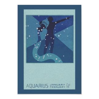 Zodiaco de la constelación del acuario de la anuncio personalizado