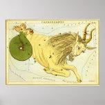 Zodiaco de la constelación del Capricornio de la a Posters