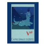Zodiaco de la constelación del Capricornio de la Postales