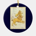 Zodiaco de la constelación del león de Leo de la a Ornamento Para Arbol De Navidad
